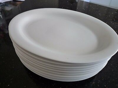 Maxwell & Williams White Basics Oval Plates, Set of 10, 10inches, 25cm