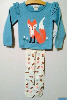 Matilda Jane~ Size 2 Secret Fields Clever Fox Sweater & Sly As A Fox Tights