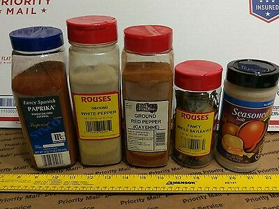 seasonings spices mix lot  cayenne white pepper paprika bay leaves salt