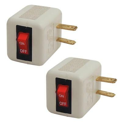 2 Pack Single Outlet Wall Tap Adapter With Lighted Switch Power  ETL