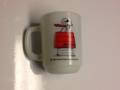 1965 Vintage Fire King Snoopy CURSE YOU RED BARON Mug Cup