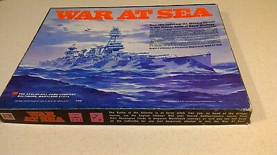 Vintage 1976 Avalon Hill War At Sea Game WWII Naval Strategy 705 Navy Ships