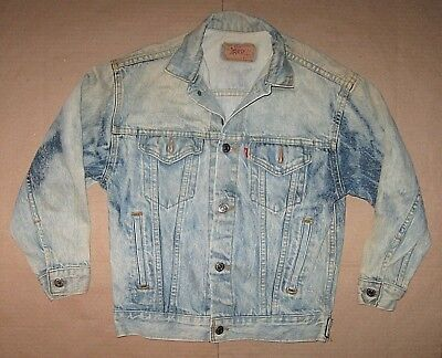 Vintage Used 80s 90s LEVI STRAUSS Levi's Blue Jean Denim Jacket Boys Medium