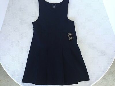 Girls 8 * FRENCH TOAST * Dress 2-Buckle JUMPER NAVY BLUE 2-Tab School Uniform