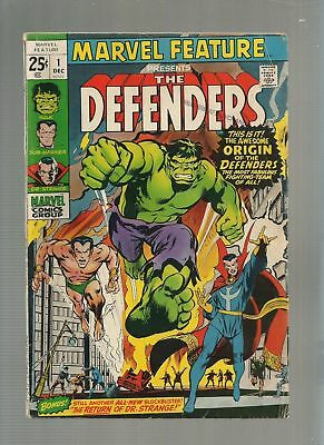 Marvel Feature #1 and 2 - 1st and 2nd Appearance of Defenders VG Condition