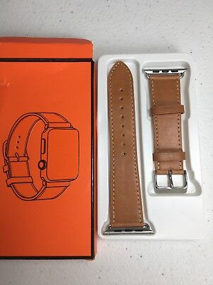 Leather Band Strap For Apple Watch 42mm  light brown fits 3/2/1