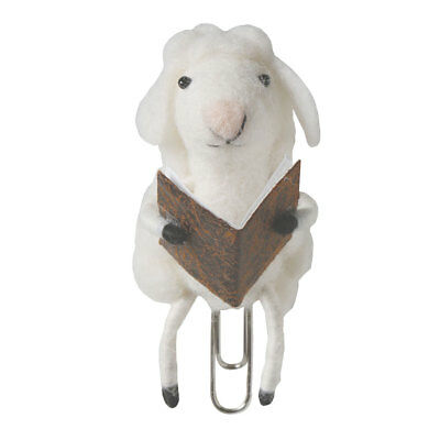 Felted Wool Animal Bookmarks - Clip On - Sheep