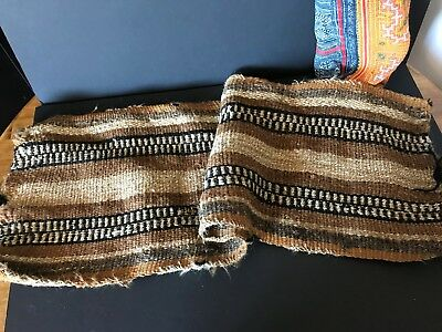 Old Chilean Hand Woven Village Donkey Bag …beautiful wool and lama