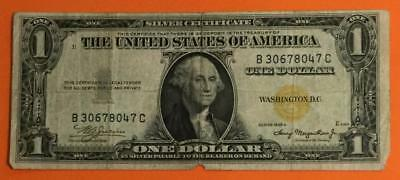 """1935A $1 US """"GOLD"""" Seal US North Africa World War II SILVER Certificate X047"""
