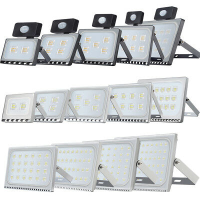 LED Floodlight PIR 10/20/30/50/100W  Motion Security Flood Lights Warm Cool IP65