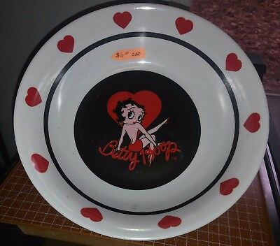 betty boop plastic serving bowl, red and black