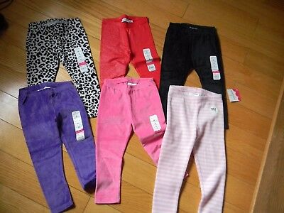 Girls Size 3T Assortment of Jumping Beans Leggings & Velour Pants-New with Tags!