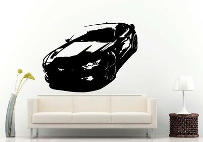 Wall Room Decal Vinyl Sticker American Muscle Old Antique Classic Sport Car L705