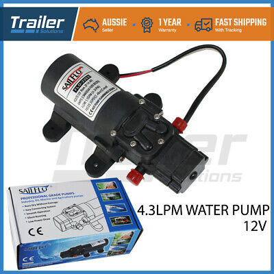 12V 35Psi Water Pump 4.3Lpm Self Priming Caravan Jayco,Offroad Trailer Camping