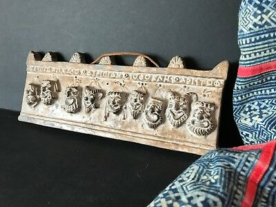 Old Greek Ceramic Tile with Theater Masks …beautiful collection & display piece