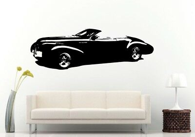 Wall Room Decal Vinyl Sticker American Muscle Old Antique Classic Sport Car L691