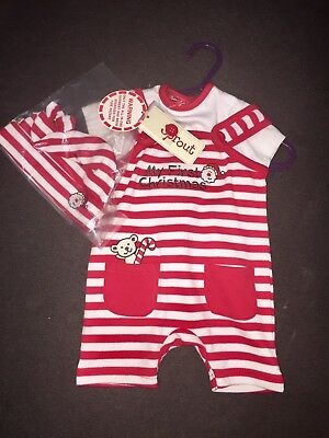 BRAND NEW BNWT My first Christmas Sprout Newborn Baby 3 Piece suit Set