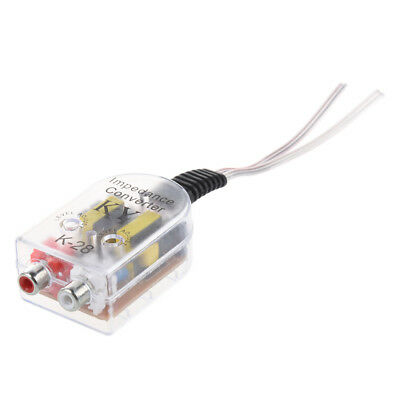 Hot Sale Plastic Car High to Low Impedance Converter Speaker to RCA Line Y6J6