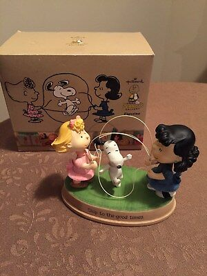 "2011 Hallmark Peanuts Gallery ""Skip to the Good Times"" Handcrafted Figurine"