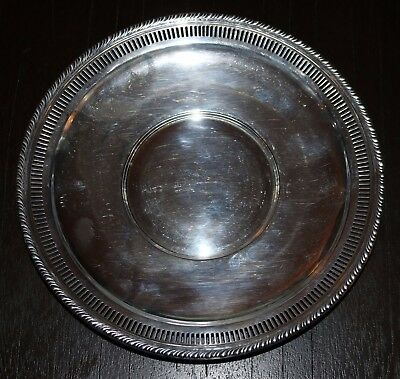 Preisner Silver Company Solid Sterling Silver 10 INCH Charger Plate 184 GRAMS
