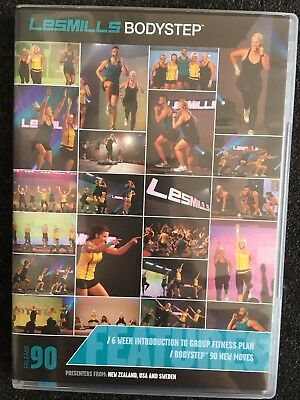 Les Mills Body step Bodystep 90 DVD Cd & Choreography Book Euc