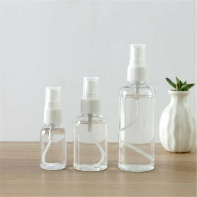 2~10X Travel Transparent Plastic Perfume Atomizer Empty Small Spray Bottle 3Size
