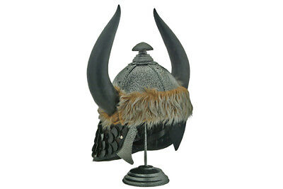 Viking Helmet with Horns, Conan Barbarian Helmet w/Display Stand-FREE SHIPPING