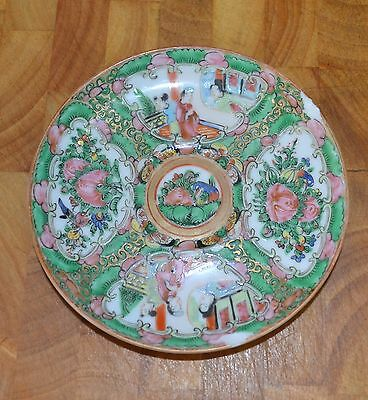 Antique Famille Rose Porcelain Plate 14cm Chinese Rose Medallion circa 1890-1912