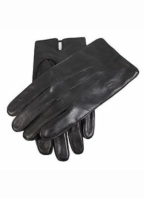 Mens Dents Leather Fleece Lined Gloves Black Brown Small Medium Large XL 5-1568