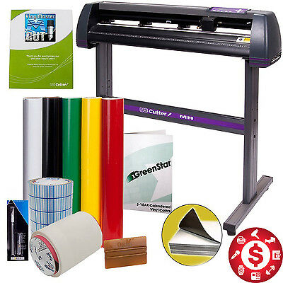 "34"" Vinyl Cutter Decal Making Kit Sign Cutting Machine Professional Cut Software"