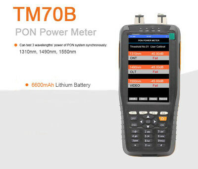 PON Power Meter LCD Pon Test Instrument 1310nm 1490nm 1550nm For PON Netwo TM70B