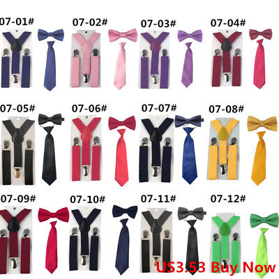 Butterfly Bowtie Suspenders Set for Baby Children Boys Toddlers Kids Outfit New