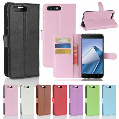 Flip Magnetic PU Leather Wallet Stand Case Card Slot Cover For Asus ZenFone