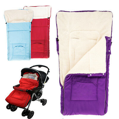 Baby Footmuff Pushchair 2 Way Stroller Buggy Universal Fitting Lined Pram Fleece