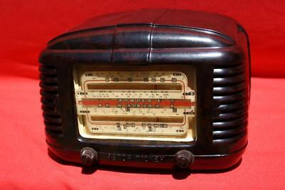 Immaculate Vintage Mottled Brown  Bakelite Astor Mickey Valve Radio