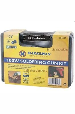 New Electrical Soldering Iron Gun Kit 100 Watt With Case With Two Extra Tips