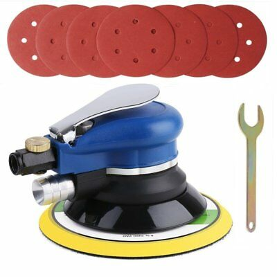 Air Random Orbital Palm Sander 150mm Dual Action Auto Body Orbit DA Sanding New