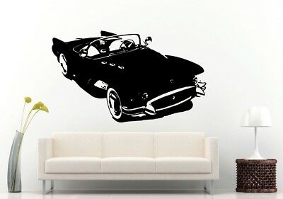 Wall Room Decal Vinyl Sticker American Muscle Old Antique Classic Sport Car L685