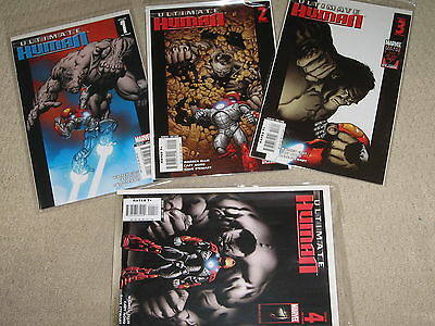 Ultimate Human (2008) Complete Ltd Series 1-4 ; Hulk & Iron Man Nm Marvel Comics