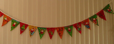 Merry Christmas Santa Bunting Flags Banners