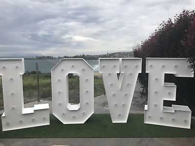 Large Light Up Love Marquee Letters