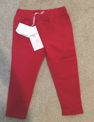 Monnalisa Baby 24 months 2 years red soft trousers brand new with tags