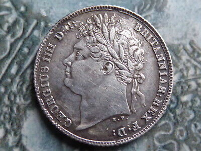 sixpence coin 1824  high grade