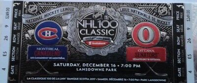 NHL 100 Classic tickets - Montreal Canadiens v. Ottawa Senators