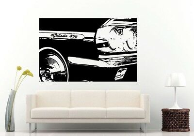 Wall Room Decal Vinyl Sticker American Muscle Old Antique Classic Sport Car L695