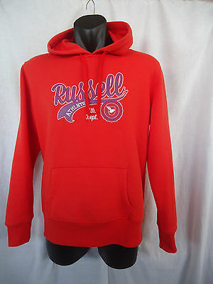 RUSSELL ATHLETIC Hoody BOYS SIZE 14 Orange Fleecy Tunnel Pocket Poly Cotton 3731