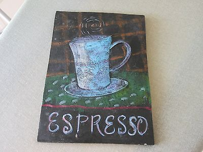 """""""ESPRESSO"""" 5"""" by 7"""" Wall Placque for home kitchen or restaurant"""