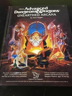 TSR AD&D Advanced Dungeons & Dragons Unearthed Arcana #2017 By G Gygax 1985