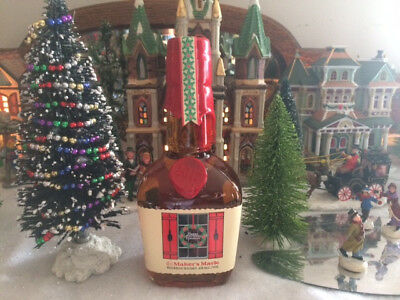 2017 ''New'' Makers Mark Limited Edition Christmas Candlelite .375 Liter Bottle