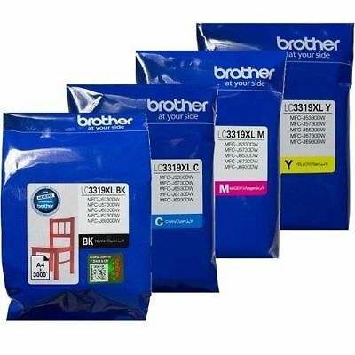 New Genuine Brother LC3319XL-3PK Colour Value Pack C/M/Y HY Ink Set MFC-J6930DW